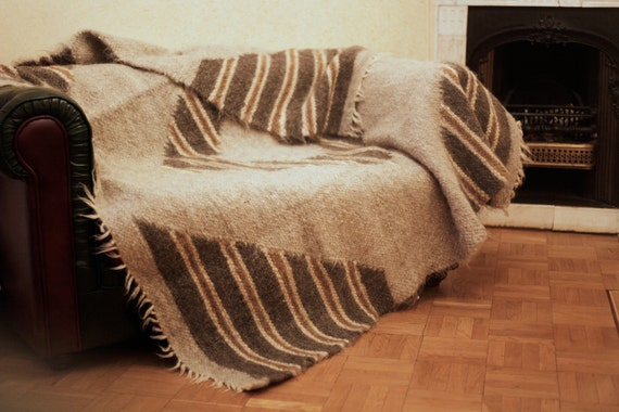 Couch Cover Sheep Wool Blanket Sofa Throw By