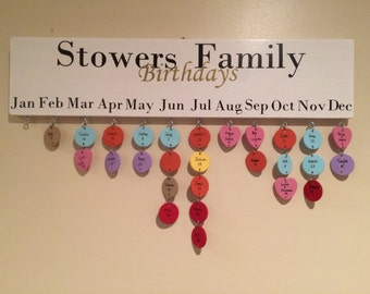 Family Birthday Board, birthday calendar board, birthday board
