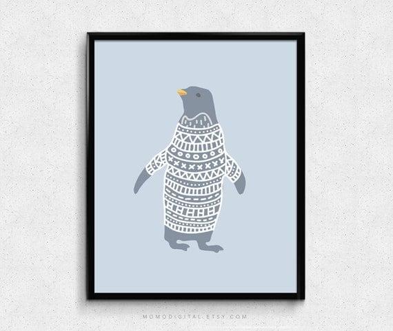 Penguin, Animal Illustration