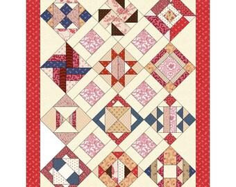 12 Days - 12 Blocks - 1 Quilt    Pattern/Download