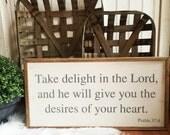 Psalm 37:4 Handpainted 1x...