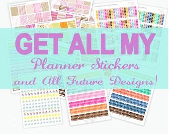 Get It All Planner Stickers Printable / ONE DAY SALE 15euro