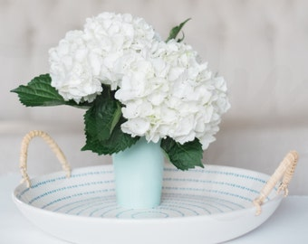 White Hydrangeas | Square Format Stock Image