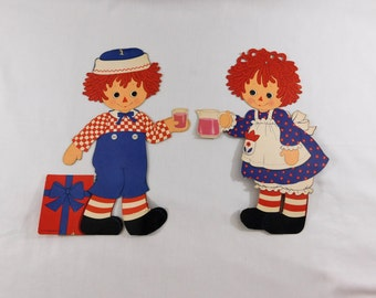 Vintage Raggedy Ann and Andy Paper Cut Outs