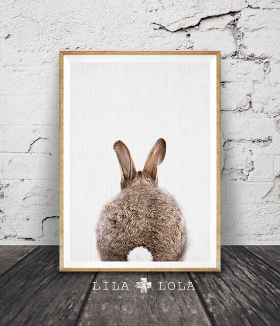 Kaninchen zu tail print kinderzimmer wanddekoration von lilaxlola