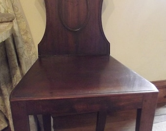 Antique mahoghany hall chair