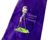 Golf towel, ladies golf towel, funny golf, gift for her, embroidered towel, personalized towel, sports towel, golf gift, for ladies, custom