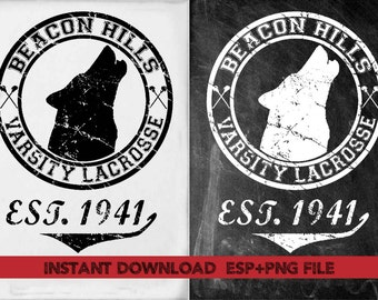 Bacon Hill Varsith Lacrosse vintage  clipart ,T shirt, iron on , sticker, Vectors files