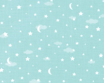 Night Sky in aqua, Lullaby, Kate and Birdie for Moda 13154 16