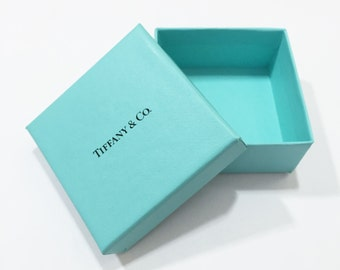 Tiffany & Co. Authentic Blue Square Jewelry Box