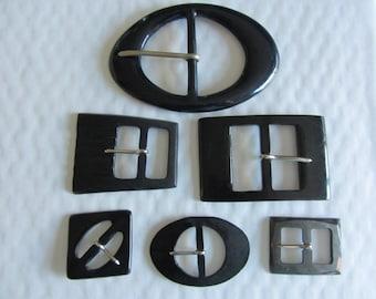 6 vintage 1950-1960-11871 belt buckles