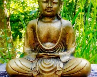 "Small Buddha Statue . 8-1/2"" tall"