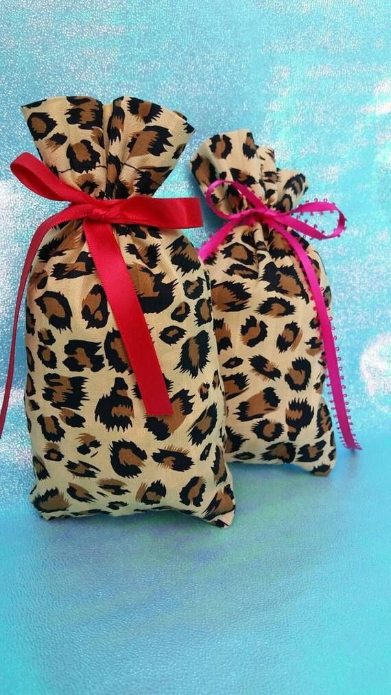 Leopard print favor bag animal safari