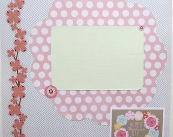 """SALE - Mother's Day 12x12"""" Scrapbook Layout"""
