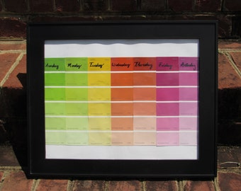 Dry-Erase Paint Chip Calendar