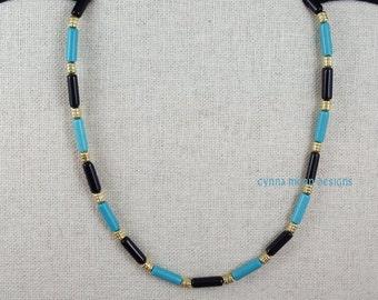 Turquoise & Onyx Jewelry Set