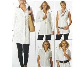 2007 McCall's 5433 Palmer Pletsch The Perfect Shirt in Three Lengths with Sleeve Variations, Uncut, Factory Folded Sewing Pattern Size 6-12
