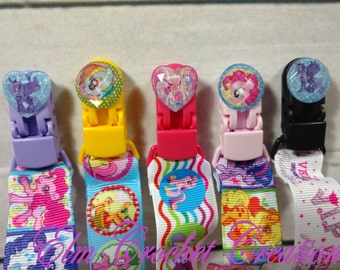 SALE** Jeweled My Little Pony Pacifier Clips ABDL/DDLG/Littles/AgePlay