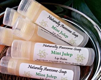 Chapstick Mint Julep Lip Balm - Natural Chapstick, Extra Healing/Moisturizing Chapstick, Handmade Lip Balm, Vegan Lip Balm, Vegan Chapstick