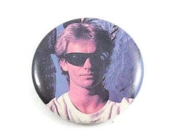 Vintage 1980's Sting Pinback Button