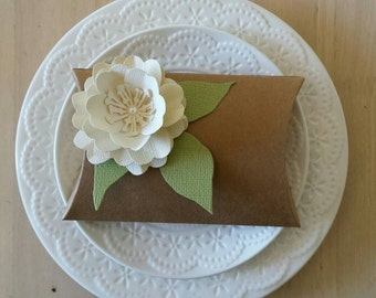 Pillowbox.....wedding favor with paper flower