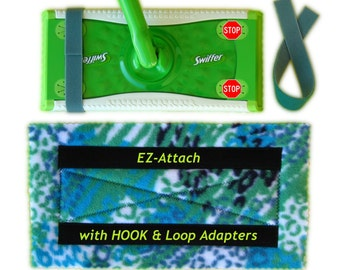 2+ EZattach Swiffer Sweeper Pad Refills with HOOK&LOOP Adapters! Washable, Reusable. ECO-Friendly. Easy to use and rinse!
