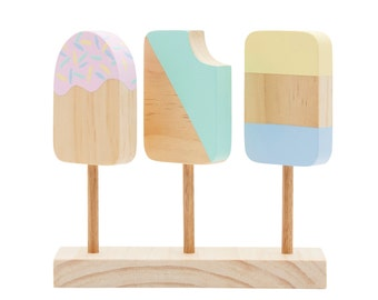 Wooden Icecream Popsicles