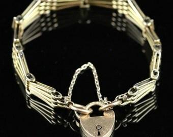 Antique Edwardian Gold And Diamond Bracelet 18ct Gold 1904