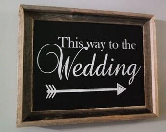 Wedding Direction Signs, Wedding Chalk board Sign, Shabby Chic Chalkboard Sign, Rustic Wedding Sign
