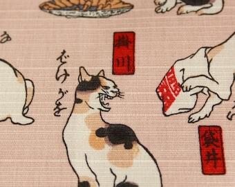 Furosiki UKIYOE Utaagwa Kuniyosi cat's 風呂敷 歌川国芳 猫