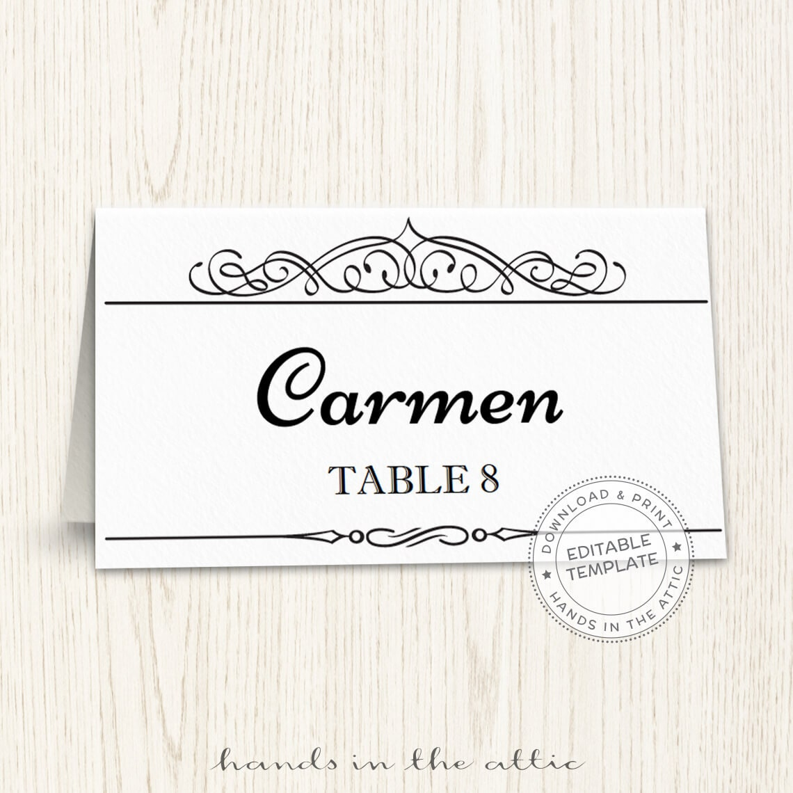 This is an image of Striking Printable Seating Cards