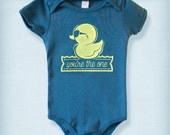 Rubber Ducky - You're The One - Organic Baby Onesie - Custom Screen Printed