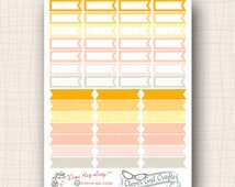 InkWELL Press Planner Stickers | Mini Striped Flags & Fishtail Ribbons | 49 Stickers Total | #SF76IWP4