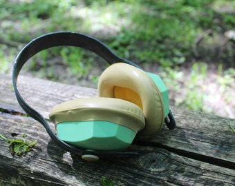 Soundproof Headphones - Vintage Noise Cancelling Headphones - Worker Protective Headphones - Industrial Decor - Nar Mag