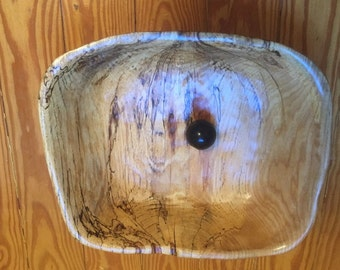 Large ash bowl, hand sawn and sanded