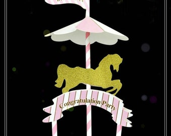 Party Decoration Merry Go Round Etsy