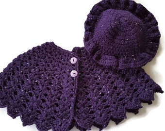Poncho and Hat Set For Child