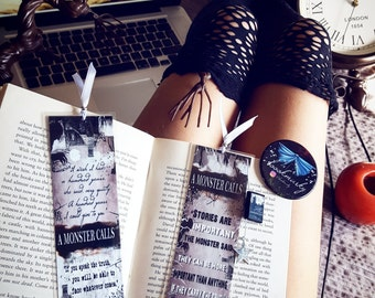A monster calls bookmark - Handmade