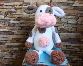 Crocheted cow