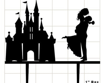 Personalize Wedding Cake Topper, Disney Couple Silhouette Cake Topper A990 8 ex