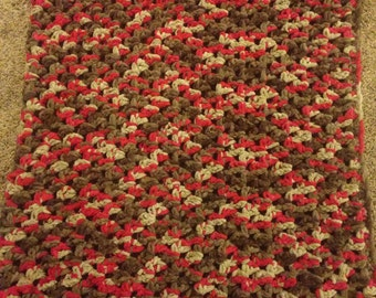 Baby Blanket- Brown and Red