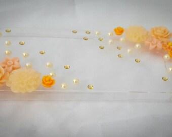 Orange Flower theme Samsung Galaxy S6 case