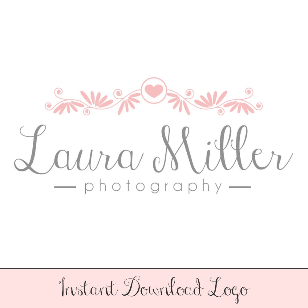 instant download logo diy premade logo design photo watermark