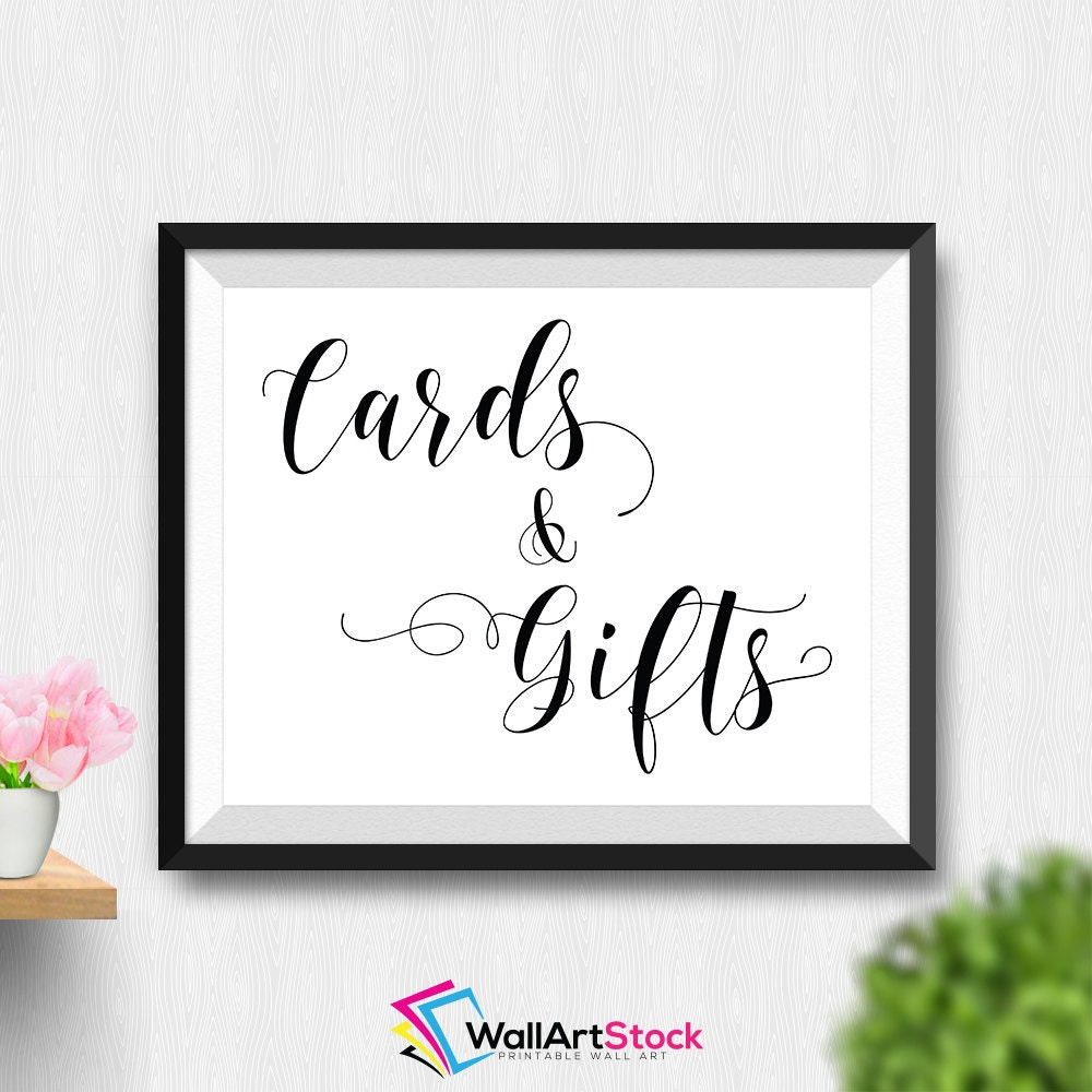 Wedding Gift Wall Art : Printable Cards And Gift Wall Art Printable Wedding Sign
