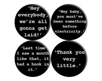 Caddyshack (1980) handmade quotes badges - set of FOUR