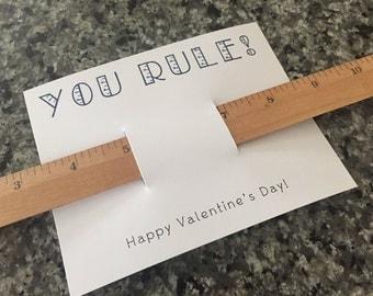 Valentine's Day, Valentine, Valentines Day, You Rule, Printable, Kids Valentine, Digital Valentine, DIY Valentine