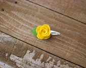 Petite Rose Felt Flower Clip // One Size Fits All // Coral, Lavender, Blue, White, Pink, Yellow, Red