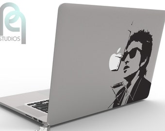 Bob Dylan, singer-songwriter, artist and writer - creative High Quality matte vinyl macbook or laptop decal, sticker SKU - PPMD077