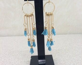 Boho chic chandelier earrings- hippie style earring- festival jewelry