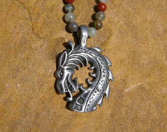 Bloodstone Dragon Necklace